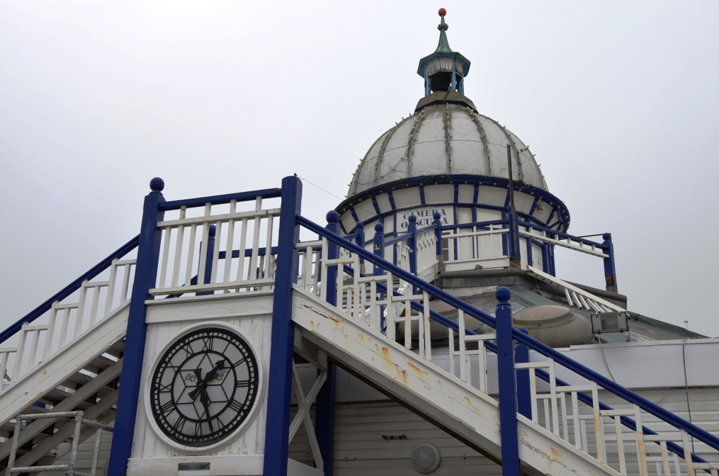As part of the tour of Eastbourne Pier members got to see the only remaining Camera Obscura on a seaside pier. The Camera Obscura is currently undergoing refurbishment and it is hoped that this wonderful piece of seaside heritage will reopen to the public soon.